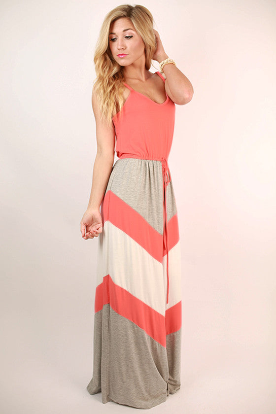 See You in Soho Maxi Dress in Coral