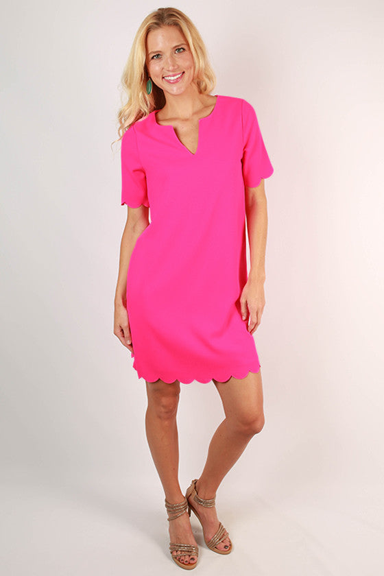 Pretty As A Tulip Shift Dress in Fuchsia