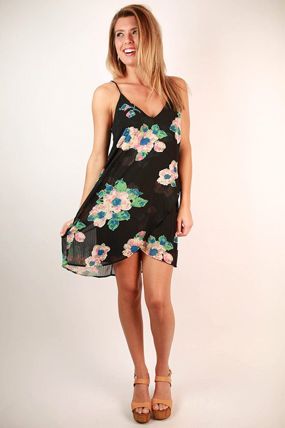 Something Pretty Floral Dress in Black