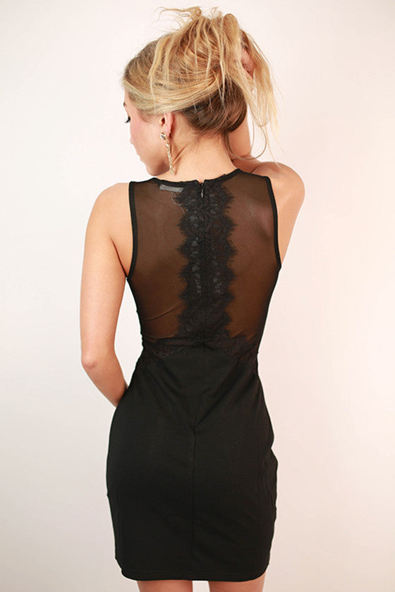 Luxe In Lace Dress in Black