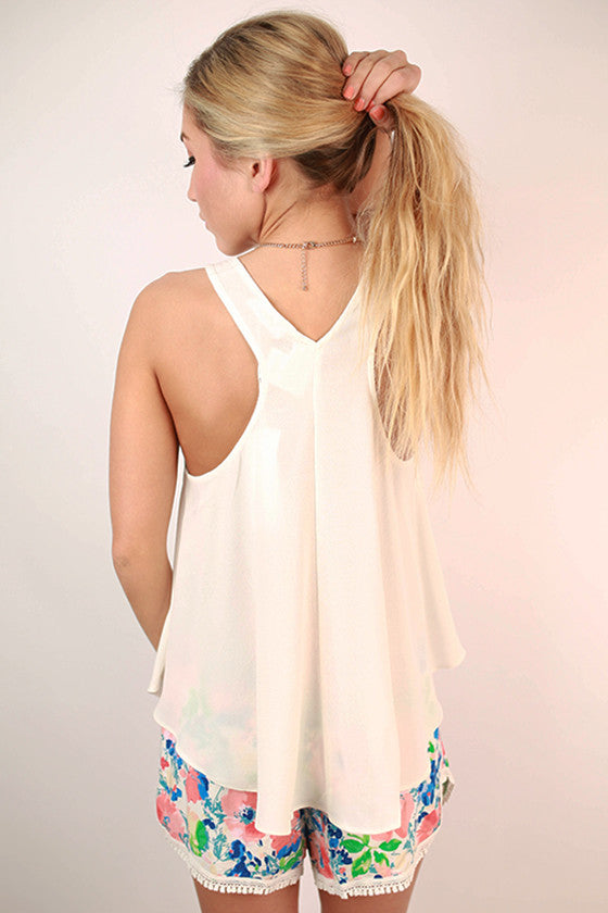 Sunkissed Coast To Coast Tank in White
