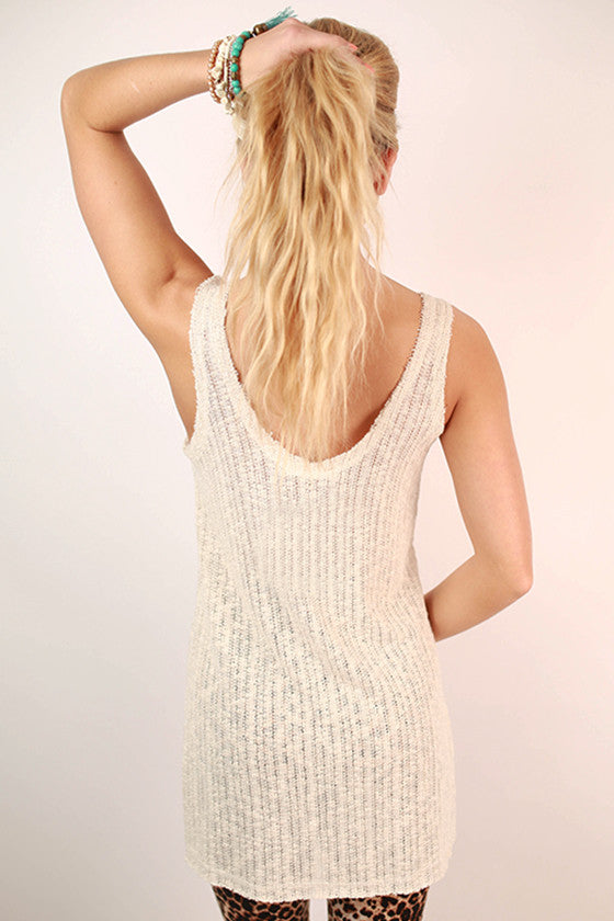 Sail on Over Pocket Tank in Ivory