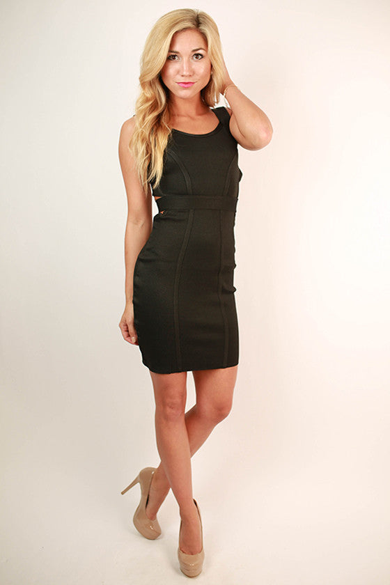 Stay Fierce Bodycon Dress in Black