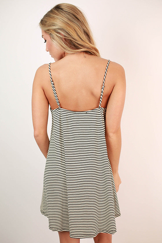 Sweetheart in Stripes Dress in Ivory