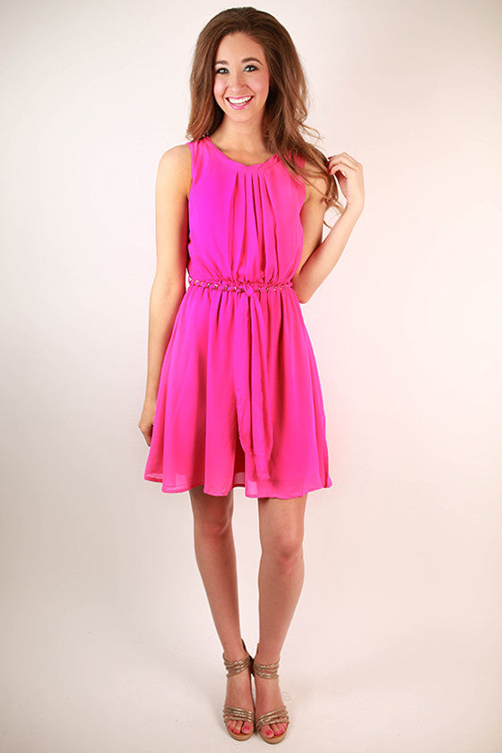 Feeling Photogenic Tank Dress in Hot Pink