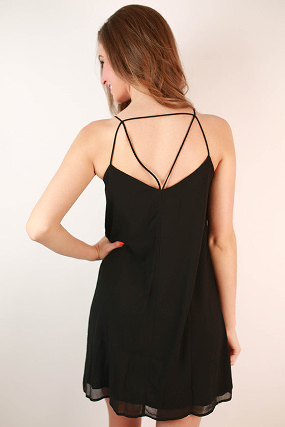 The Best Intentions Shift Dress in Black