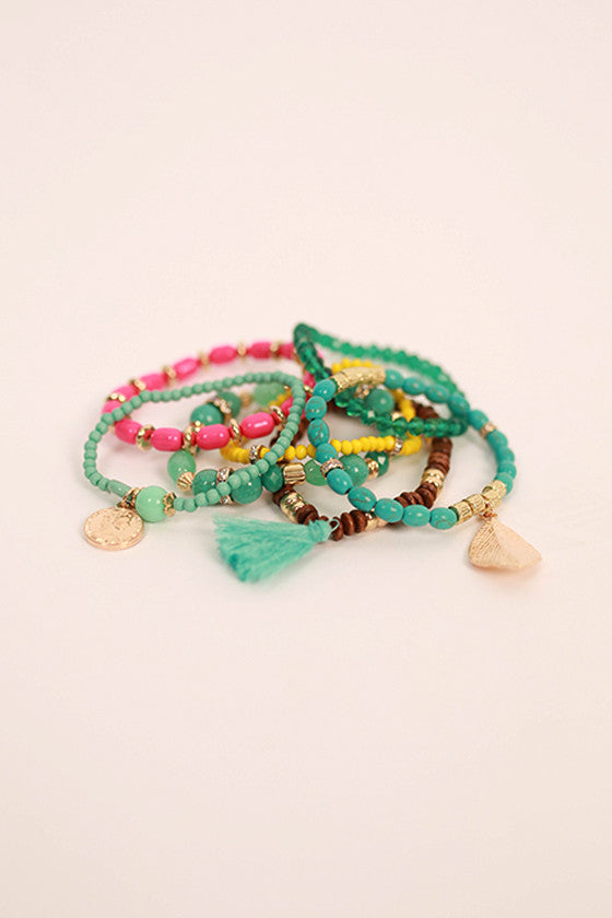 Brace Yourself Bracelet in Hot Pink