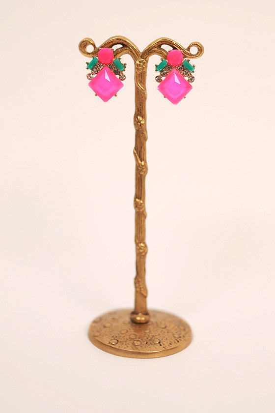 Bright & Bubbly Earrings in Hot Pink