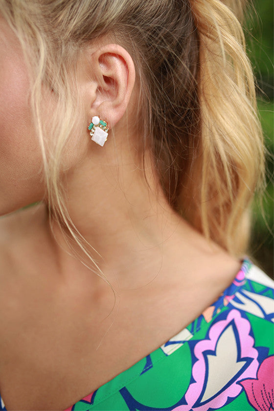 Bright & Bubbly Earrings in White