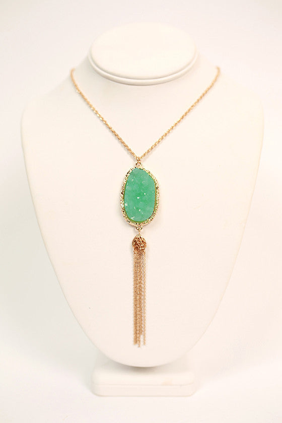 The Wanderlust Necklace in Ocean Wave