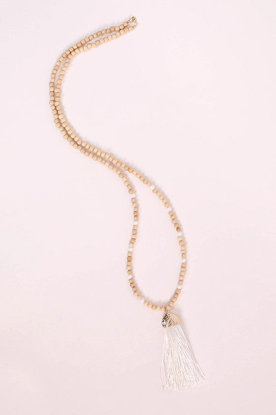 Hello Beautiful Necklace in White
