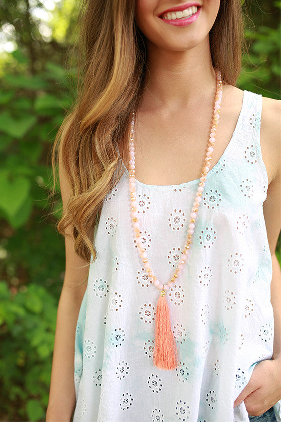 Marvelous Find Necklace in Coral