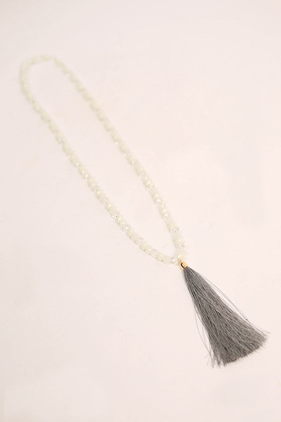 Marvelous Find Necklace in Grey