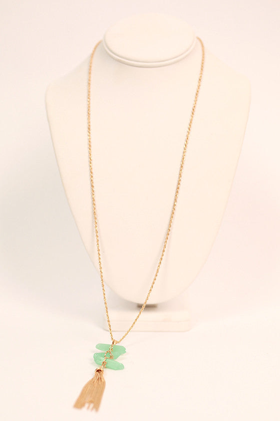 Sun Shining Necklace in Aqua Sky