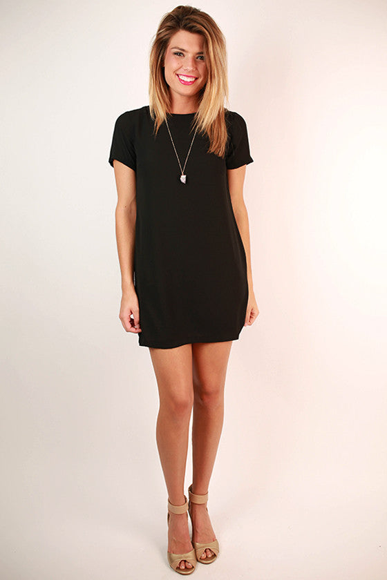 Hollywood Hills Shift Dress in Black