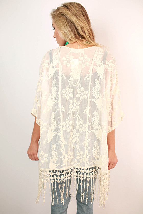 Absolute Perfection Embroidered Overlay in Ivory