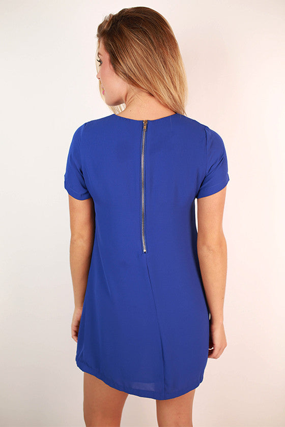Hollywood Hills Shift Dress in Royal Blue