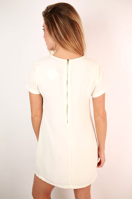 Hollywood Hills Shift Dress in Ivory