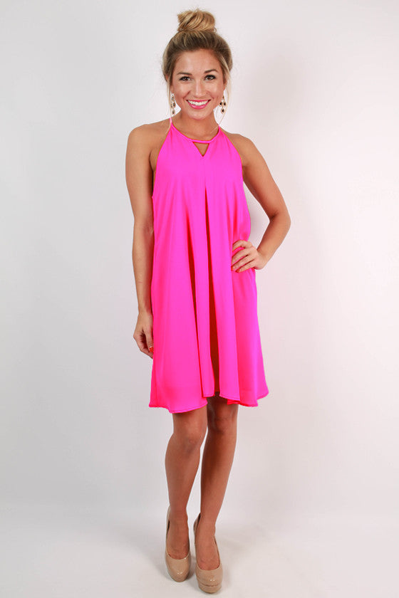 Sweet Treat Dress in Hot Pink