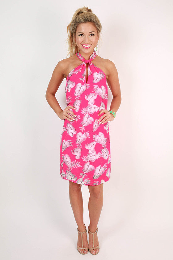 Sweet Like Honey Shift Dress in Neon Pink