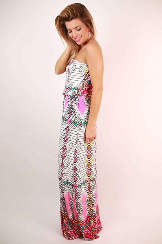 Party At The Palms Maxi Dress in Pink