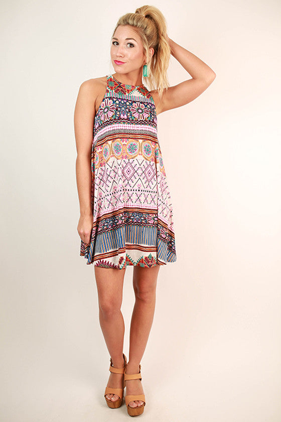 Take Me To Turks Print Dress