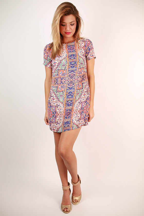 Hey Good Looking Print Shift Dress