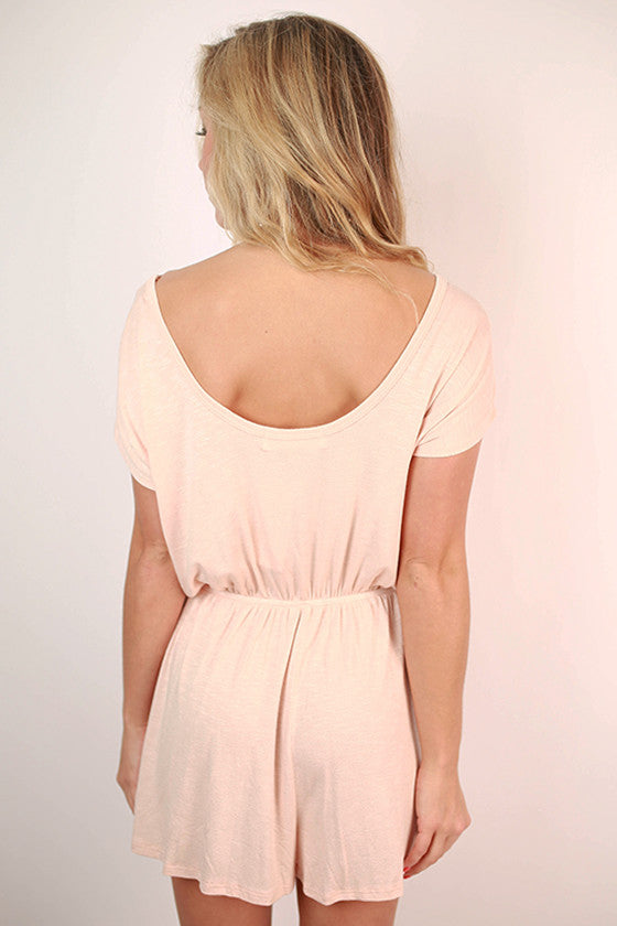 Sweet Talker Romper in Nude