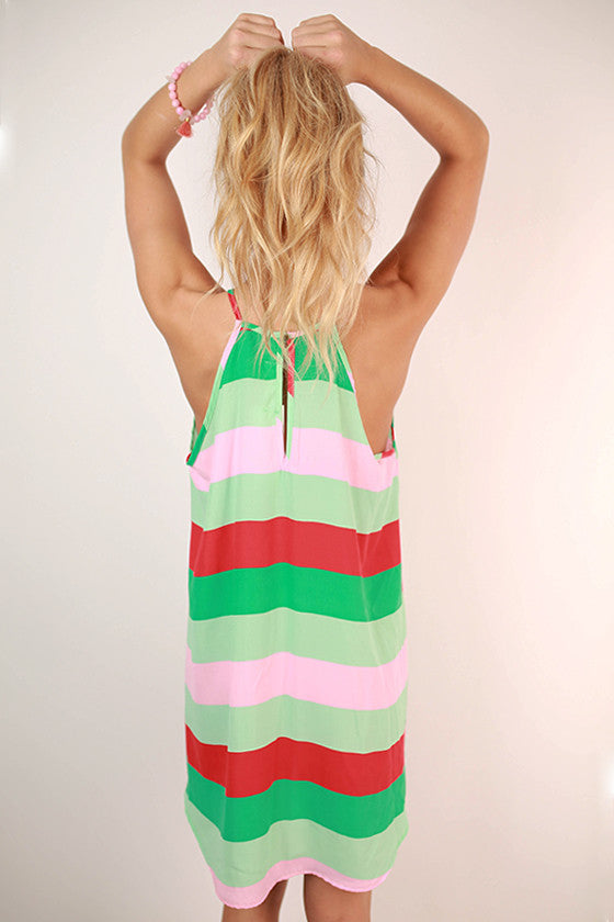 Catch Me If You Can Stripe Dress in Mint