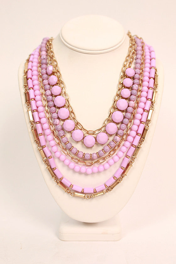 Luxe Life Layer Necklace in Orchid