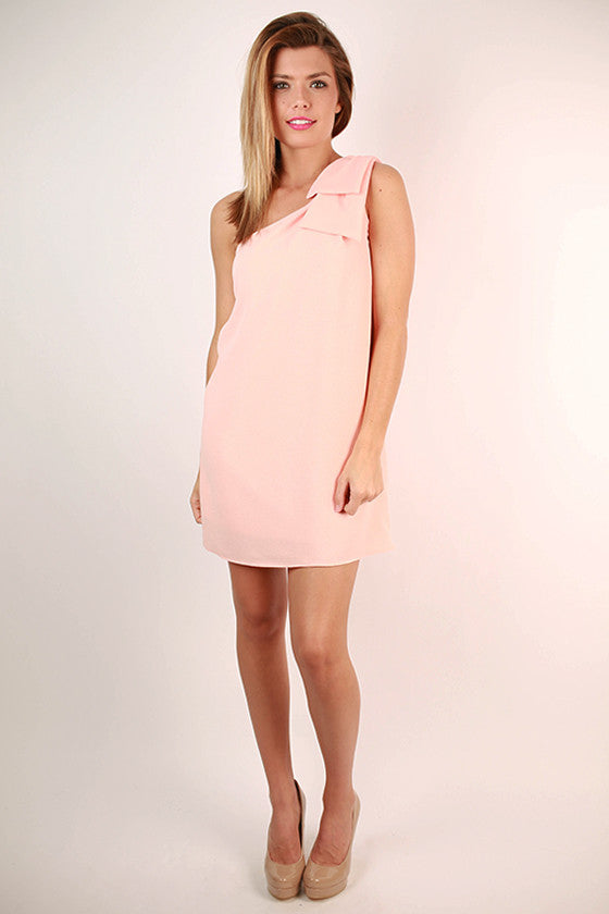 Say You Will Bow Dress in Peach