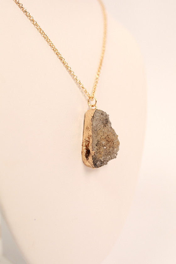 Rock On Necklace in Gold