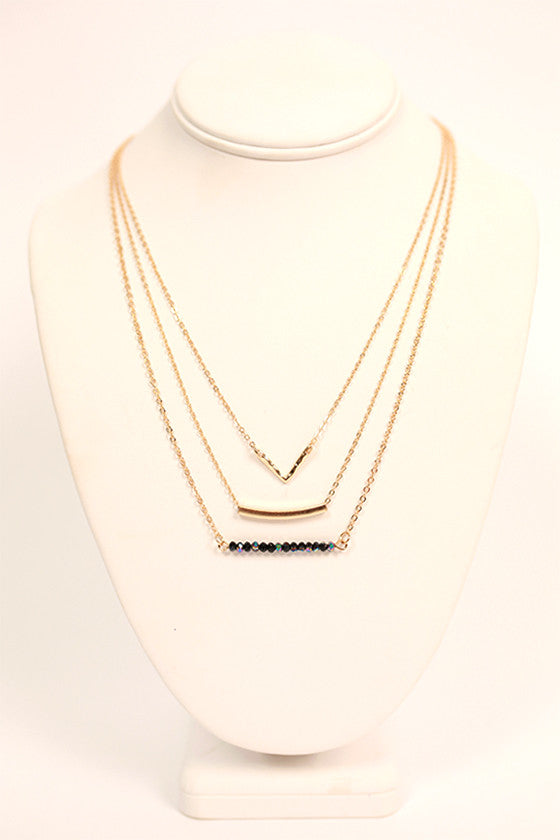 Set The Bar Layer Necklace