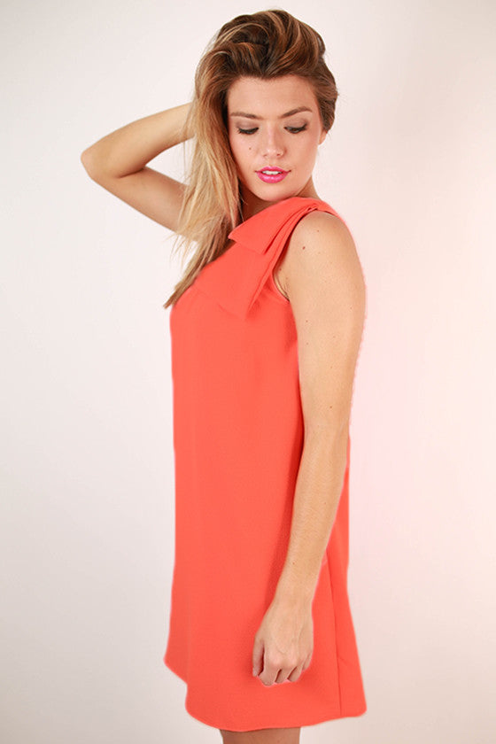 Say You Will Bow Dress in Dark Peach