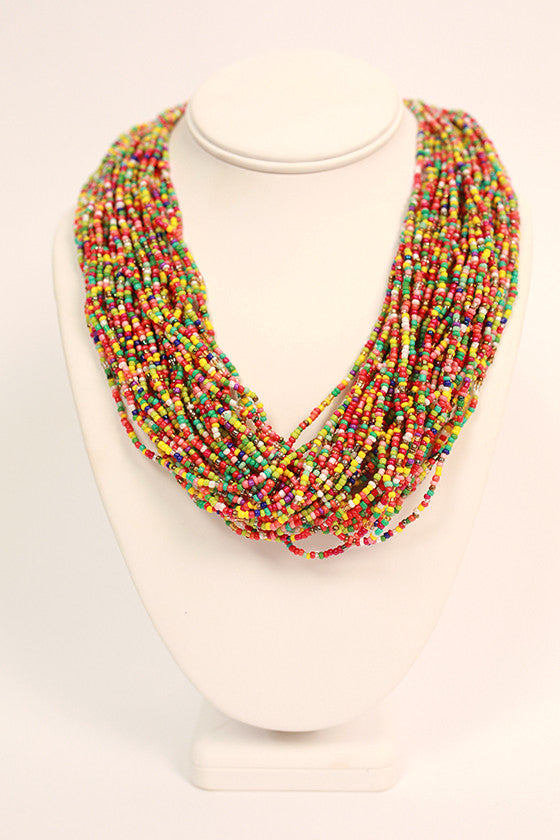 Bead Me Beautiful Necklace in Multi