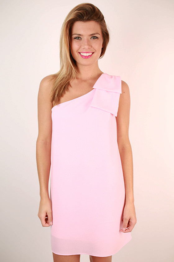 Say You Will Bow Dress in Light Pink