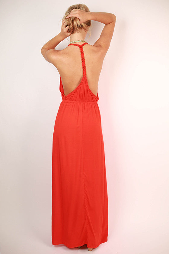 Pacific Coast Maxi Dress in Tomato