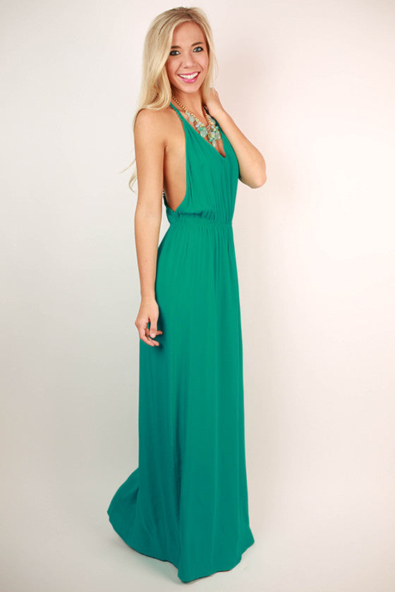 Pacific Coast Maxi Dress in Turquoise