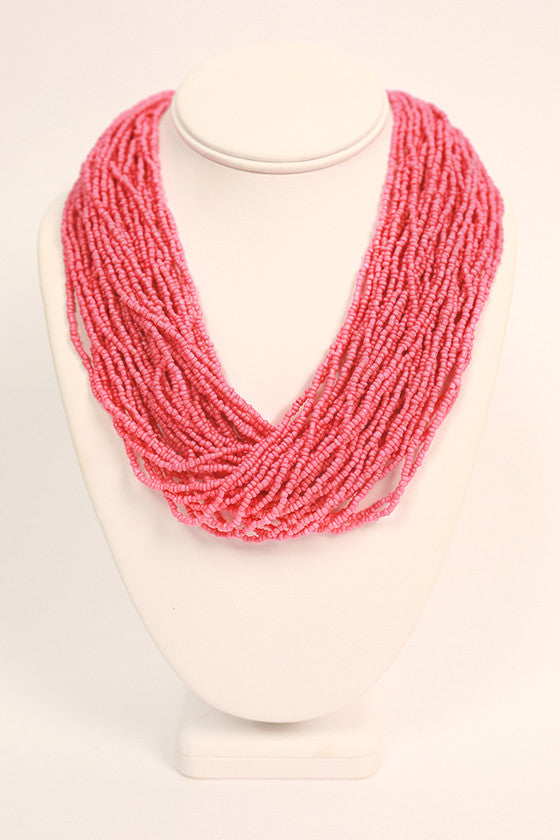 Bead Me Beautiful Necklace in Pink