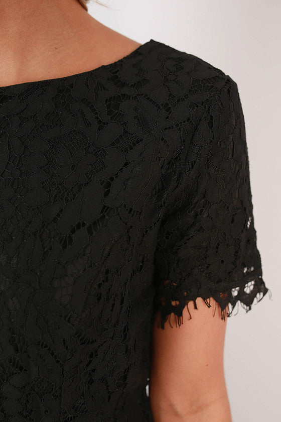 Lace For Life Dress in Black