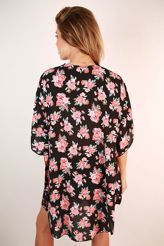 French Floral Overlay in Black