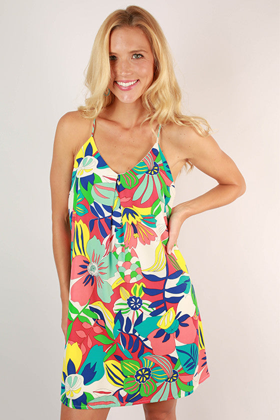 Flair in Floral Racerback Dress