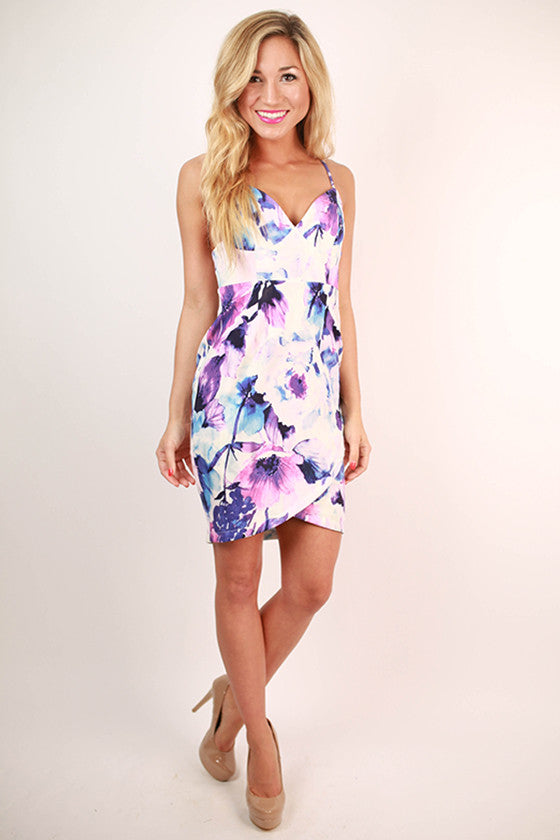 Water Lily Floral Dress