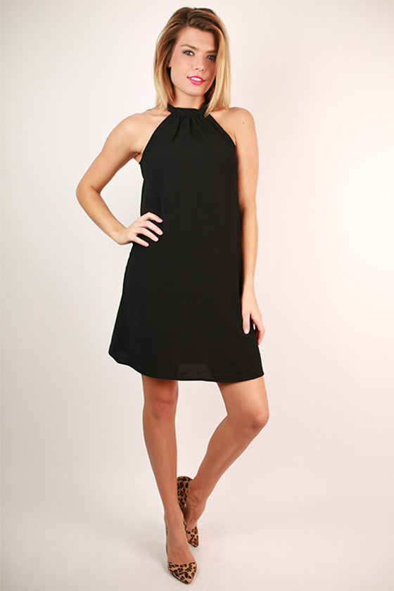 Social Butterfly Shift Dress in Black
