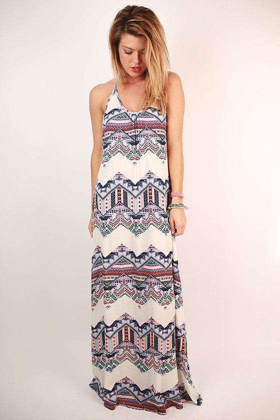 Sunsets On My Mind Halter Maxi Dress