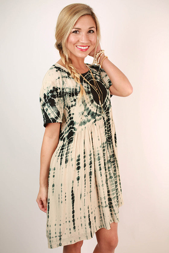 Tropical Tie-Dye Baby Doll Dress