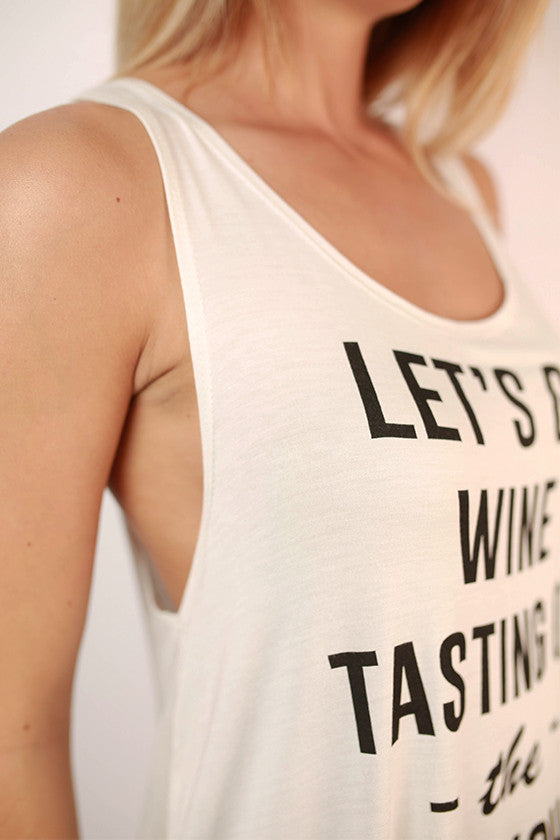 Let's Go Wine Tasting On The Couch Graphic Tank