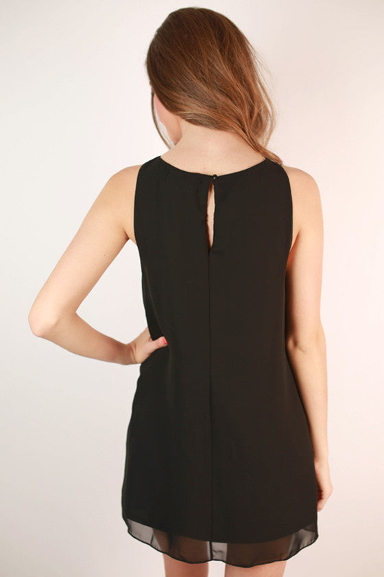 Strut Your Stuff Shift Dress in Black