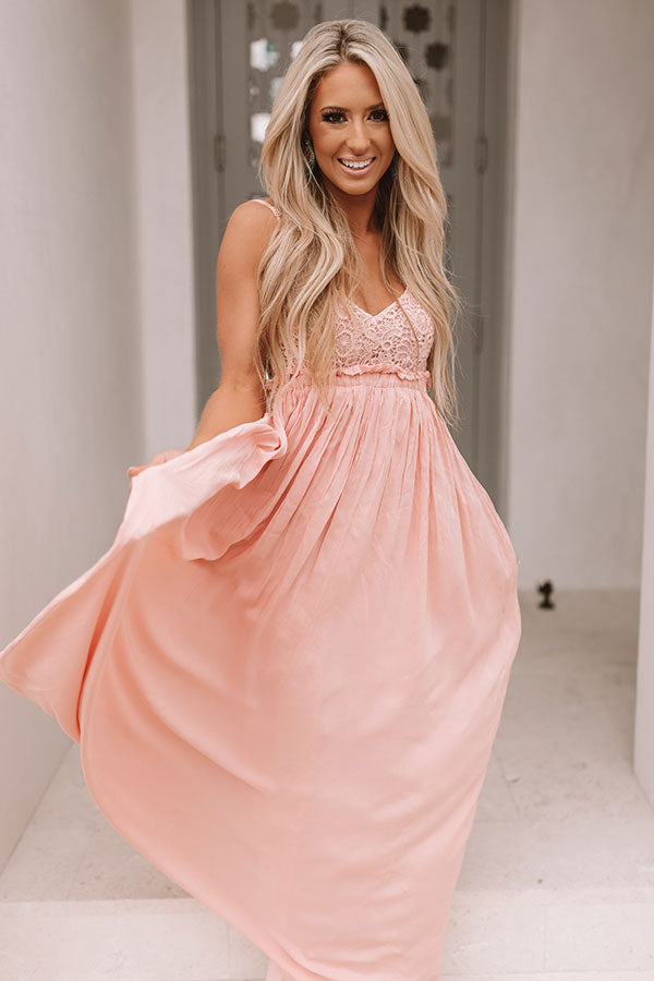 The Grand Reveal Maxi Dress in Blooming Dahlia