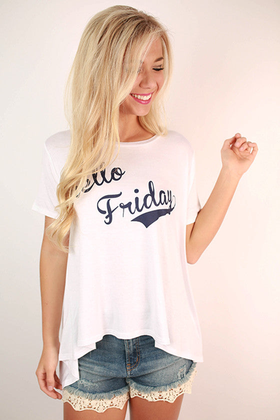 Hello Friday Swing Tee